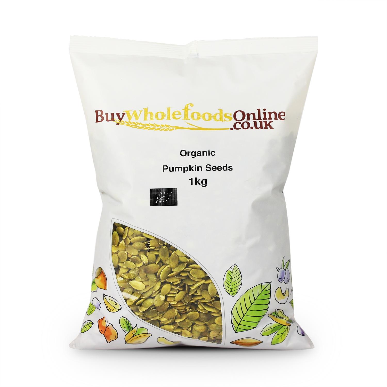 Buy Organic Pumpkin Seeds Uk 125g 25kg Wholefoods Online Black Chia 1 Kg